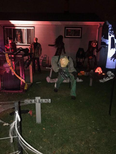 Halloween Decorated Home in Hammond, 1616 170th Pl.
