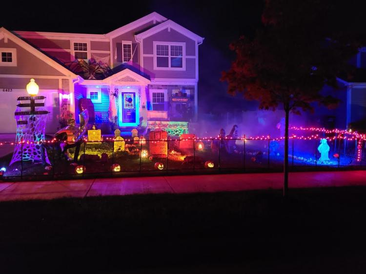 Halloween Decorated Home in Portage, 6423 Hannah Dr.