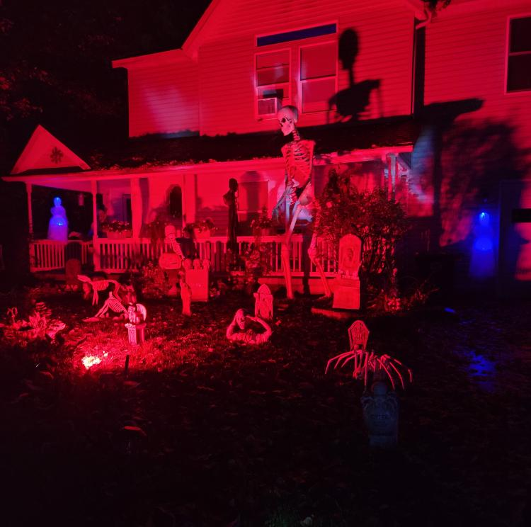 Halloween Decorated Home in Hobart,  2615 W. 38th Ave.