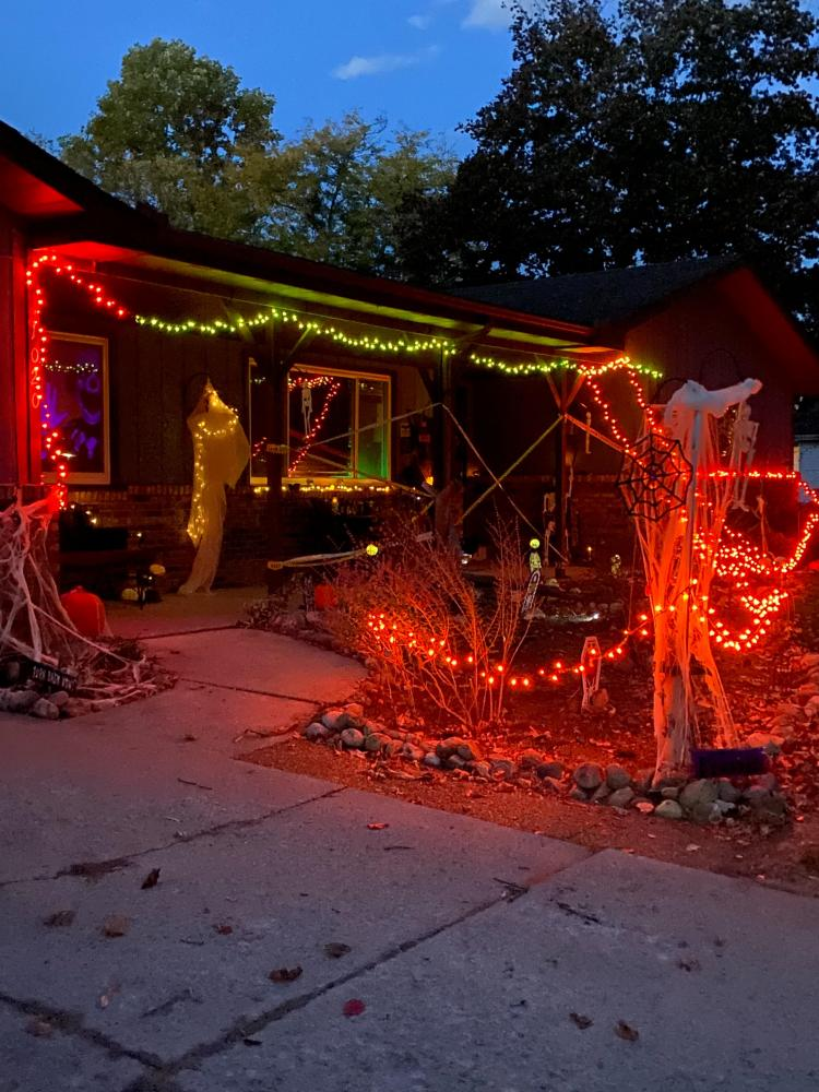 Halloween Decorated Home in Crown Point, 1020 East Greenwood Ave