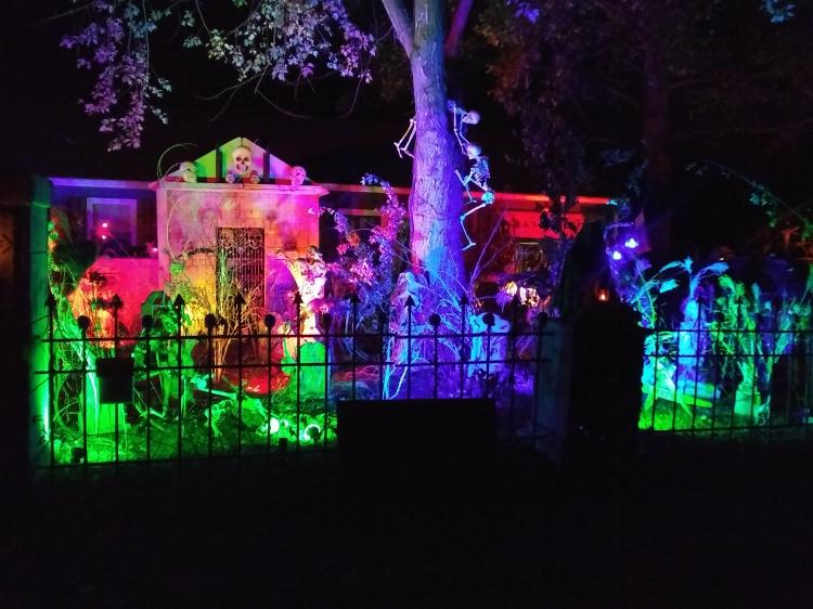 Halloween Decorated Home in Kouts, 715 W. Alice St.
