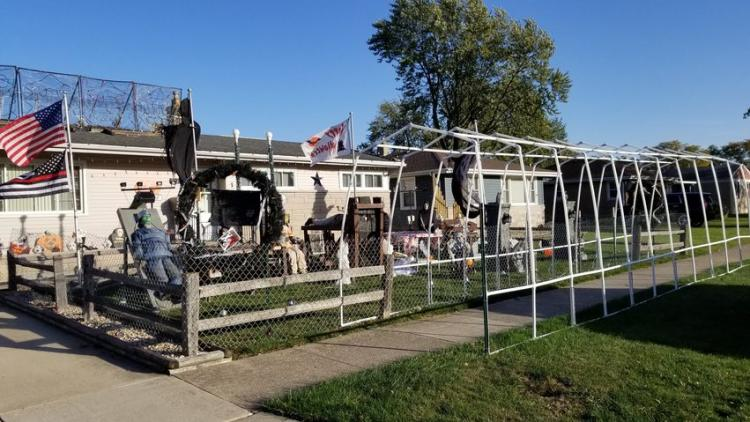 Halloween Decorated Home in Munster, 8027 Monroe Ave.