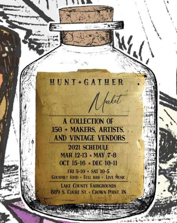 Hunt & Gather Market at the Lake County Fairgrounds in Crown Point