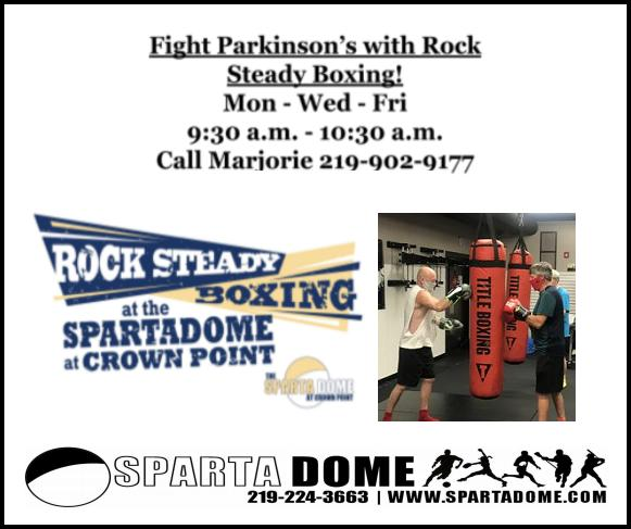 Fight Parkinson's with Rock Steady Boxing at Sparta Dome in Crown Point