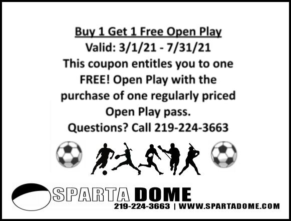 Buy 1 Get 1 Free Open Play at Sparta Dome in Crown Point