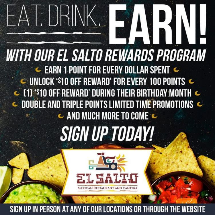 El Salto Mexican Restaurant Rewards Program