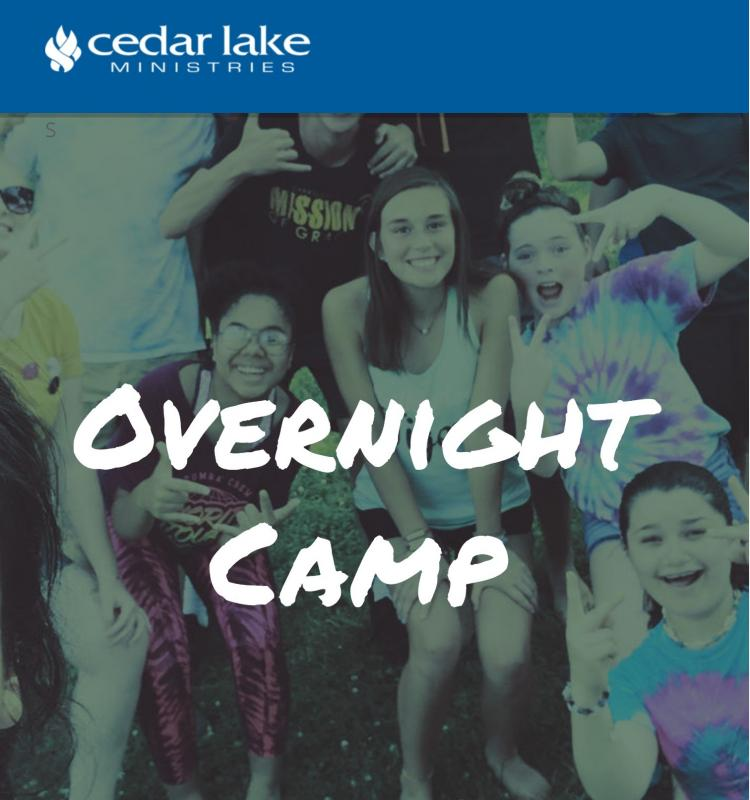 Summer Camp (Overnight) at Cedar Lake Ministries (ages 7-17)