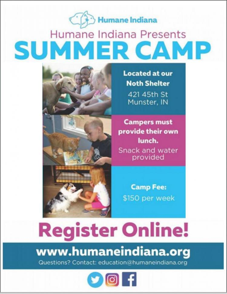 Summer Camp at Humane Indiana in Munster (ages 6-11)