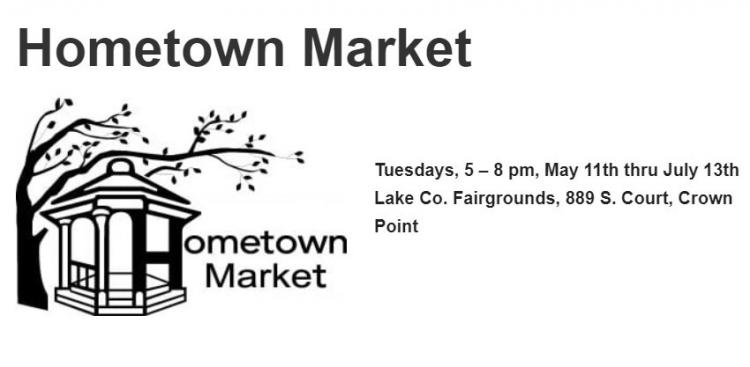 Hometown Market at the Lake County Fairgrounds in Crown Point