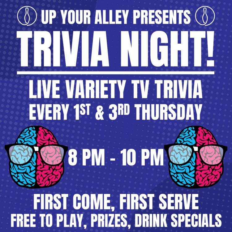 Trivia Night at Up Your Alley in Schererville Every Tuesday & Thursday!
