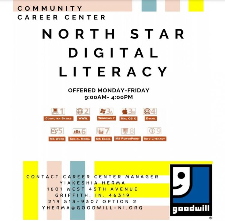 North Star Digital Literacy at the Goodwill Career Center in Griffith