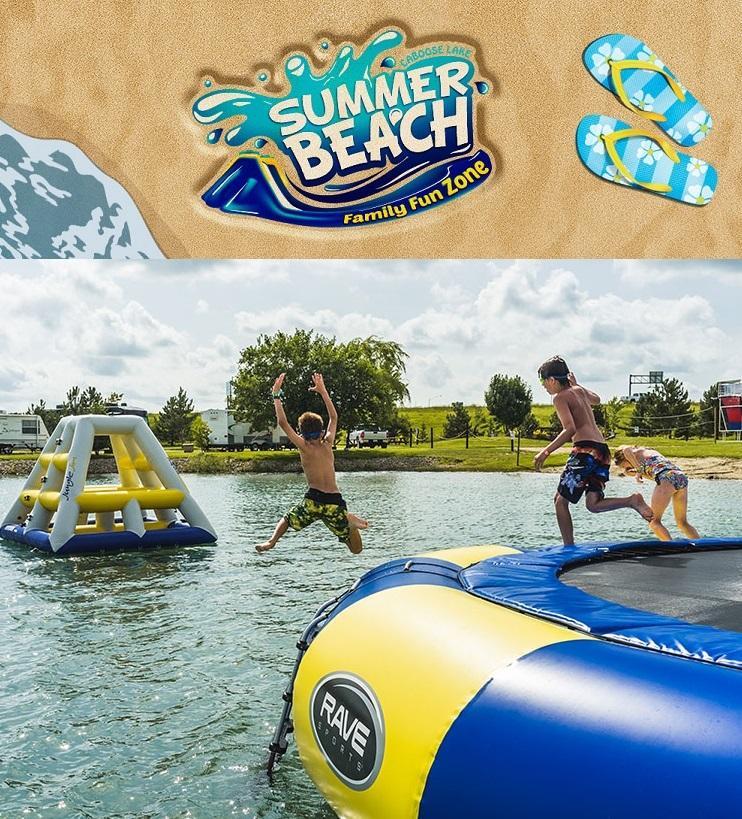 Caboose Lake Summer Beach Family Fun Zone