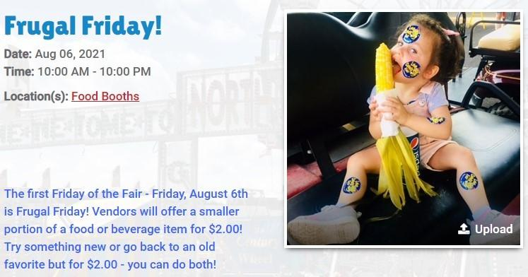 Frugal Friday at the LAKE COUNTY FAIR in Crown Point