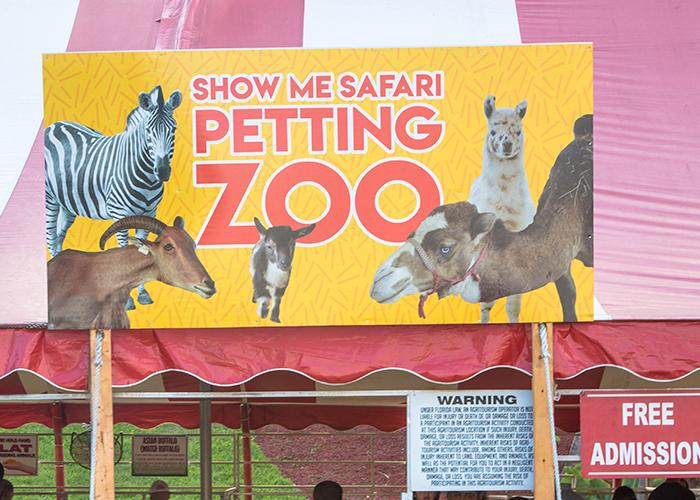 Show Me Safari Petting Zoo at the LAKE COUNTY FAIR  in Crown Point