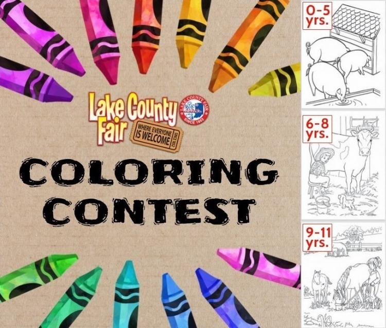 Kids Coloring Contest - Lake County Fair Ride Wristband 1st Prize! (ages 0-11)