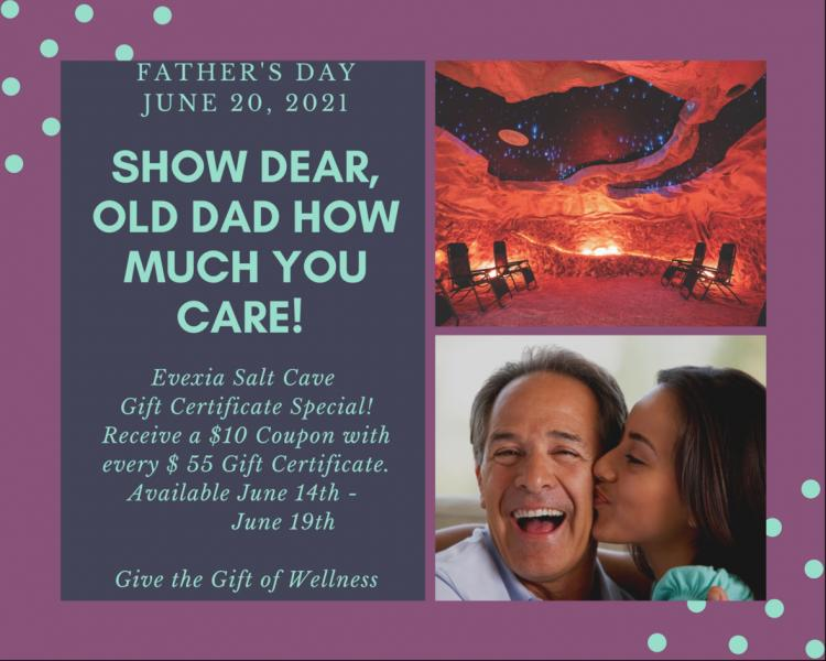 Father's Day Special at the Evexia Salt Cave in Chesterton