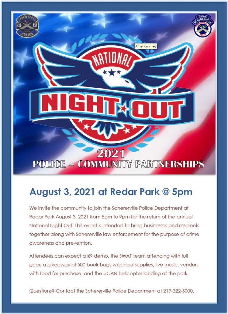 Schererville National Night Out Against Crime