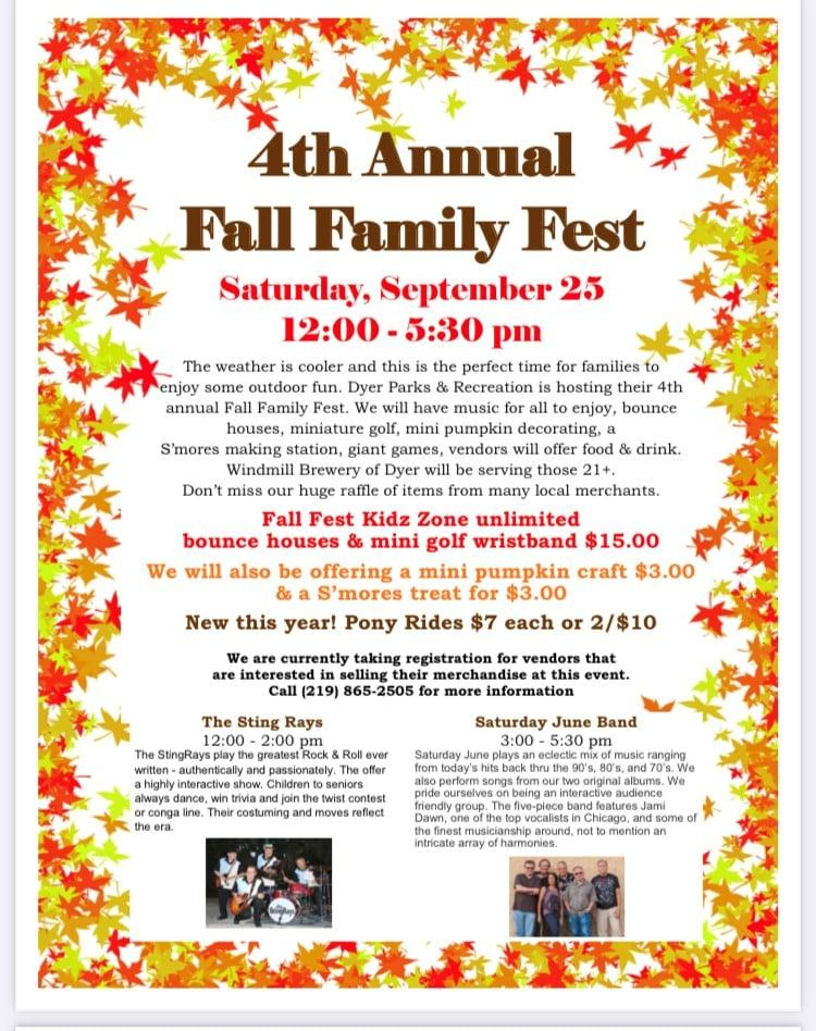 4th Annual Dyer Fall Family Fest