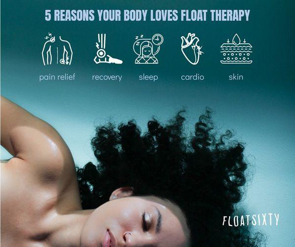 5 Reasons Your Body Will Love Float Therapy