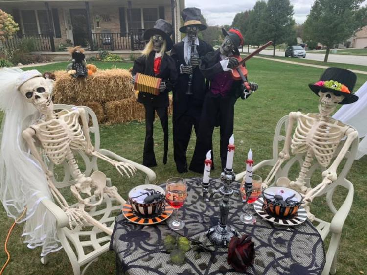 Decorated Halloween Home in Crown Point (1301 Hollowtree Ct)