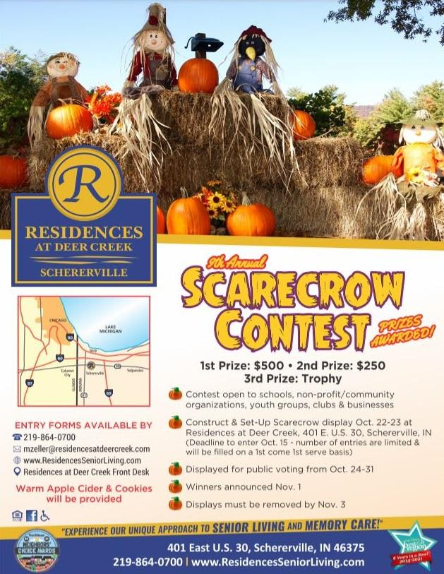 9th Annual Scarecrow Contest - Register by October 15