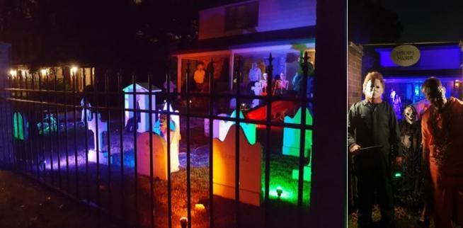 Decorated Halloween Home in Munster - Misdom Manor (1009 Melbrook Dr)