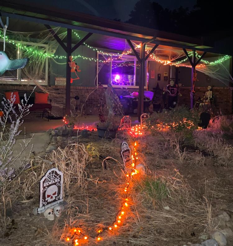 Decorated Halloween Home in Crown Point - Witchski House (1020 E Greenwood Ave)