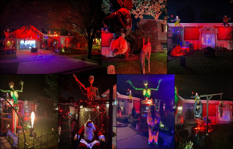 Decorated Halloween Home in Hobart (2792 Cypress Ln)