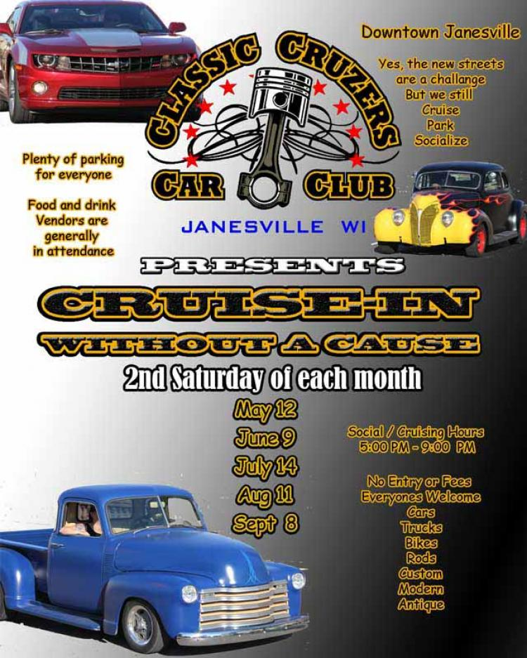 Classic Cruzers Cruise in without a cause