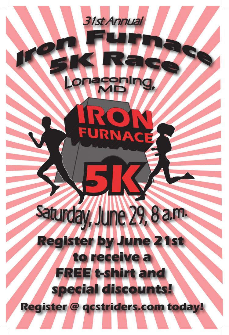 31st Annual Iron Furnace 5K Race and Fun Walk, Lonaconing, MD 8AM