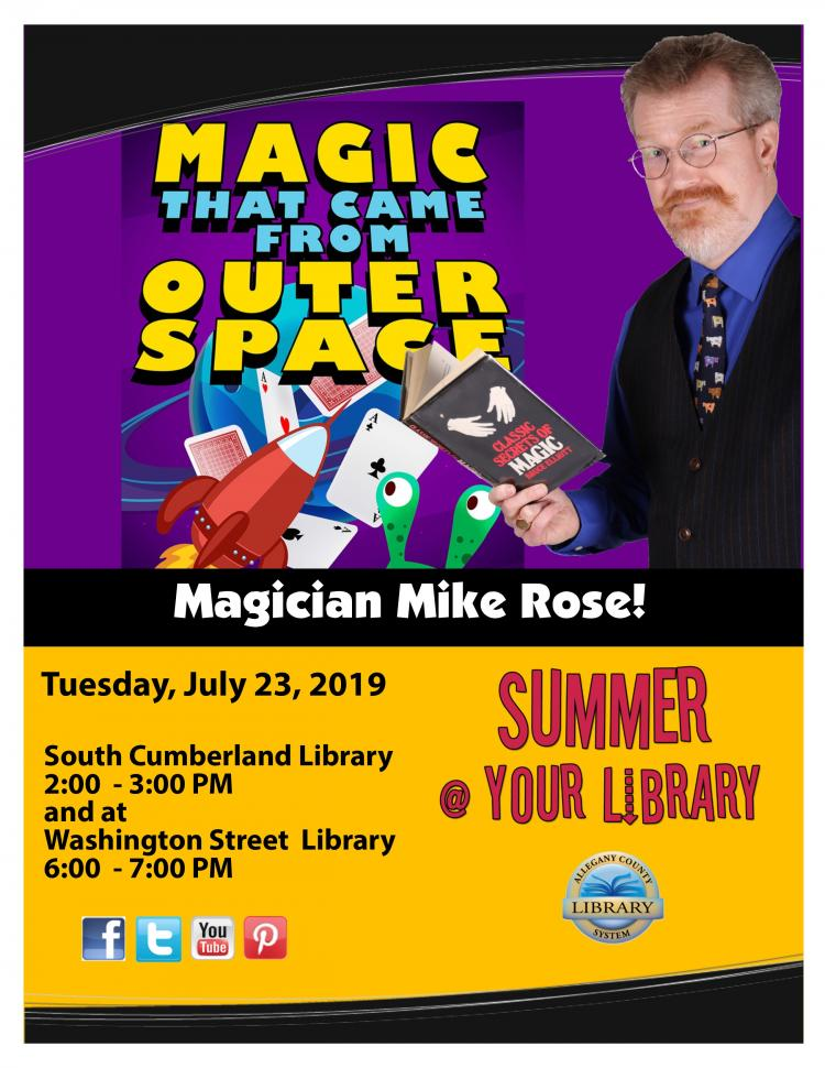 Summer@Your Library Washington Street Magic Show
