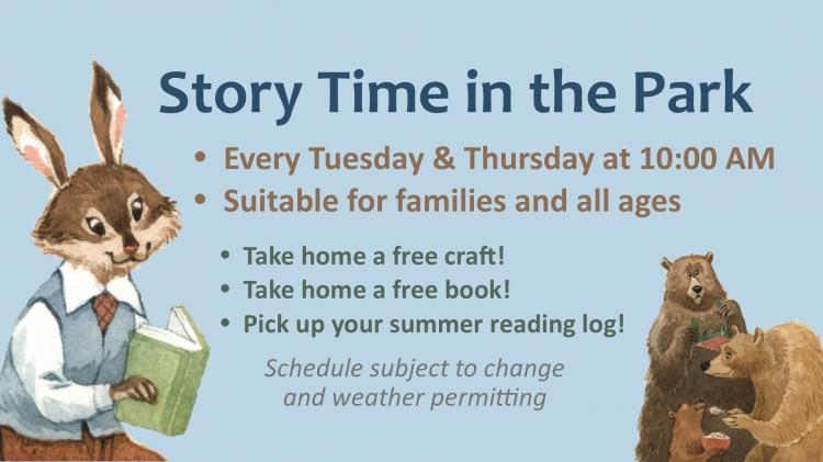Story Time in the Park - Cresaptown Sports Complex