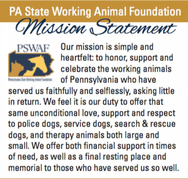 Learn about PA State Working Animal Foundation on GOOD DAY PA at ABC27! 10am!