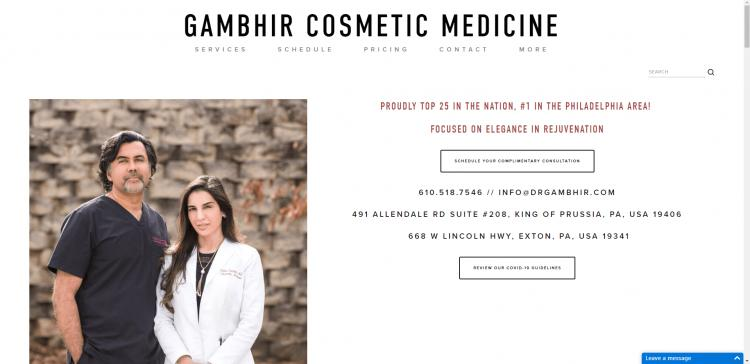 Complimentary Botox Consultation in Philadelphia by Gambhir Cosmetic Medicine