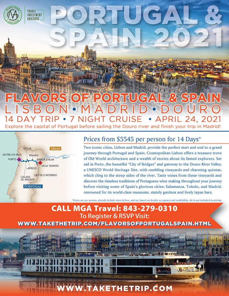 Flavors of Portugal and Spain-Land and Cruise luxury vacation