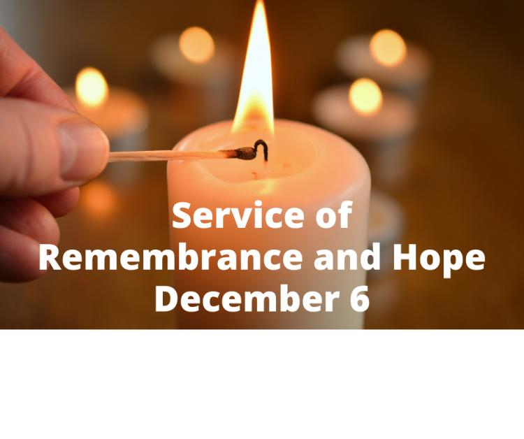 Service of Remembrance and Hope