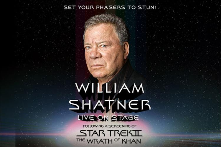 William Shatner Live on Stage following a screening of Star Trek II: The Wrath o