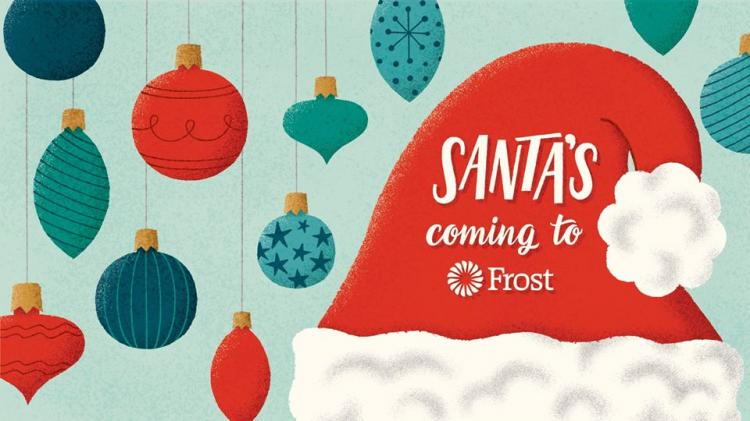 Santa Claus is Coming to Frost Bank Harrisburg