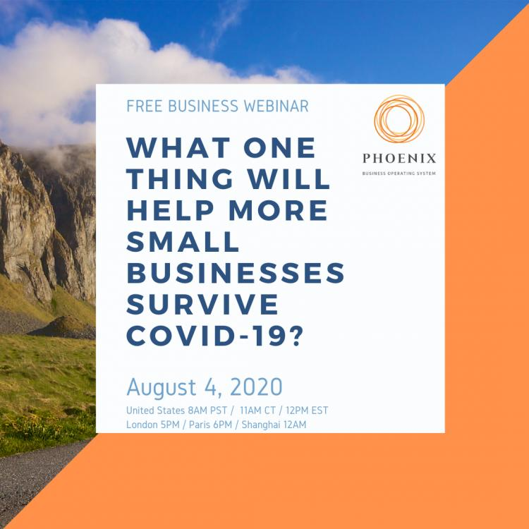 What one thing will help more small businesses survive COVID-19?