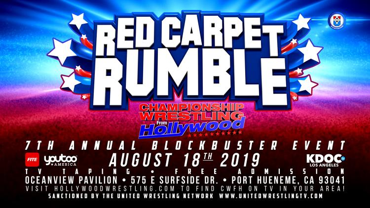 Red Carpet Rumble! CWFH TV Event Sunday Aug 18, 2019