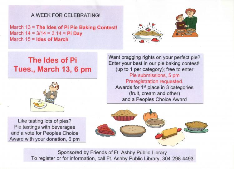 The Ides of Pi, Pie Baking Contest