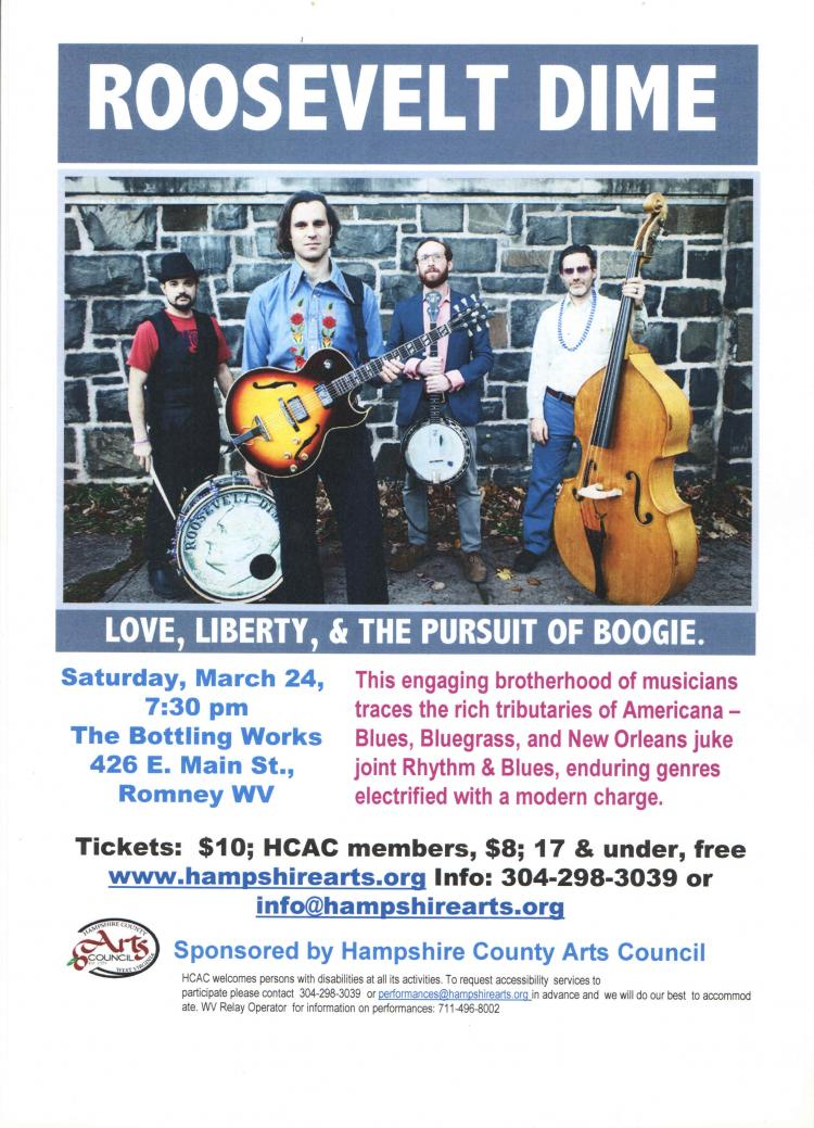 Concert: ROOSEVELT DIME  - LOVE, LIBERTY & THE PURSUIT OF BOOGIE