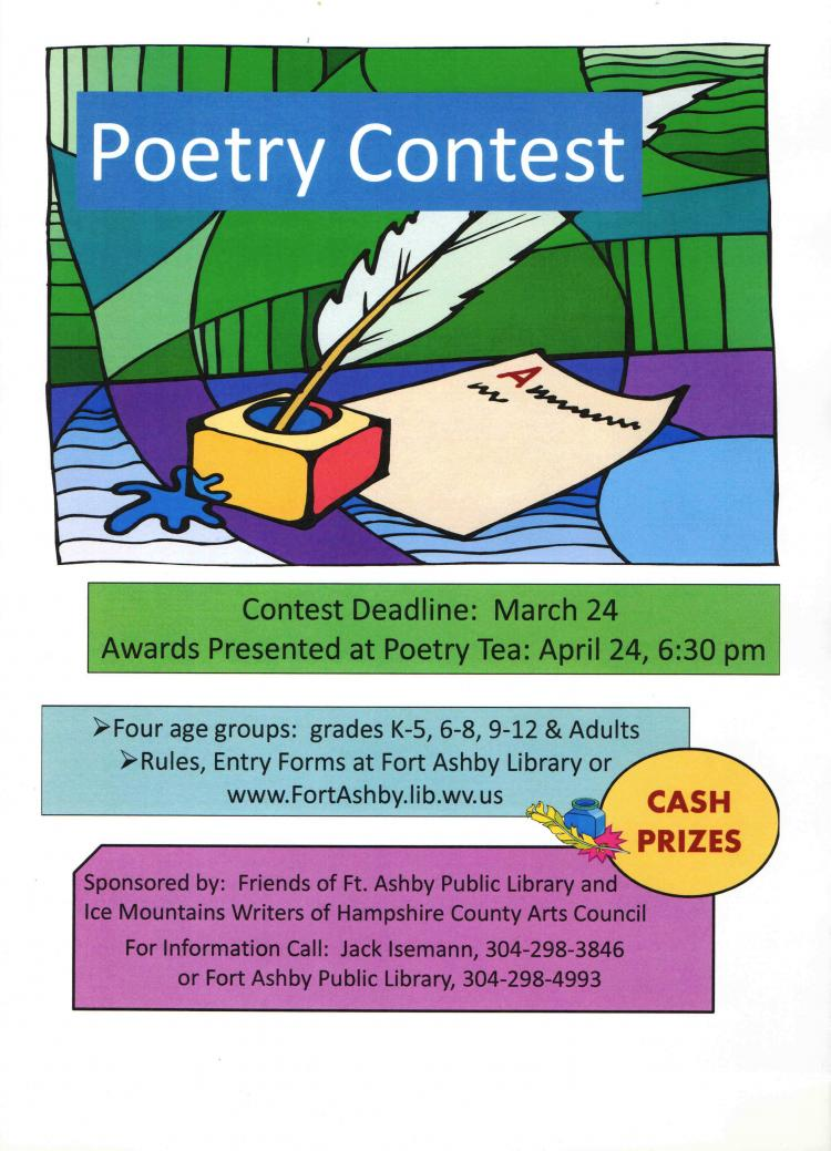 Poetry Contest-Deadline extended 3/31