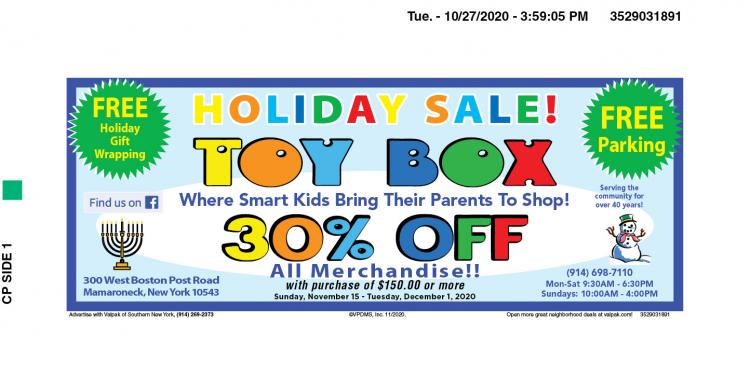 Toy Box Holiday Sale