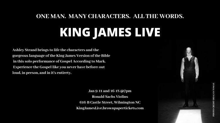 King James Live!  A solo performance of the Gospel According to Mark
