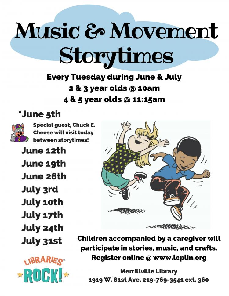 Storytime: Ages 2-3 - Music & Movement
