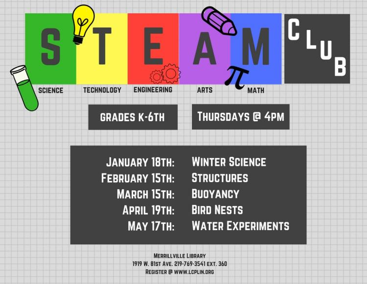 STEAM Club (Grades K-6) Water Experiments