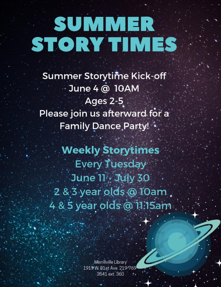 Storytime 2 & 3 years old