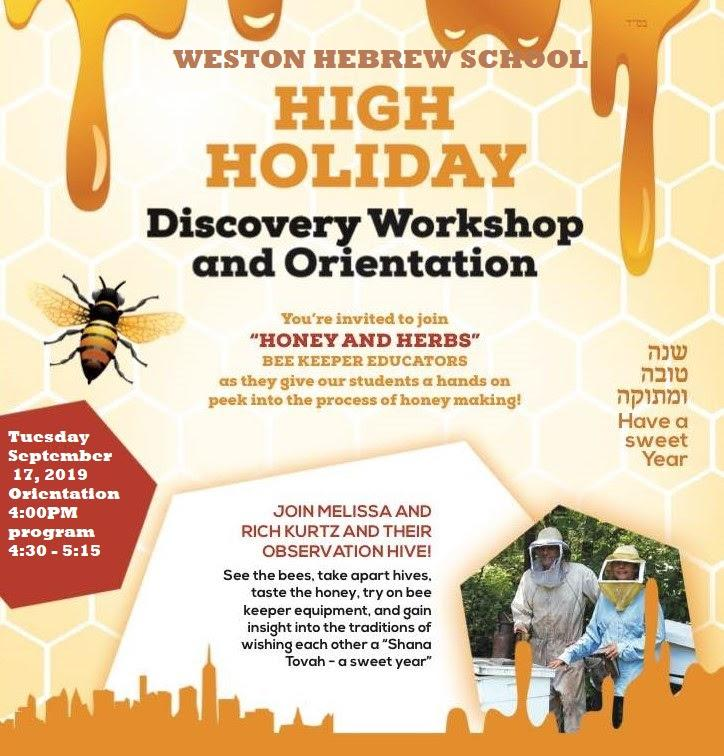 Weston Hebrew School Discovery Workshop and Open House