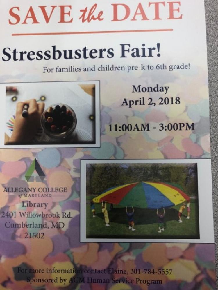 Stressbusters Fair at Allegany Community College on Monday, April 2nd